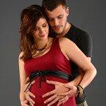 Séance photo de grossesse avec le papa à Lyon